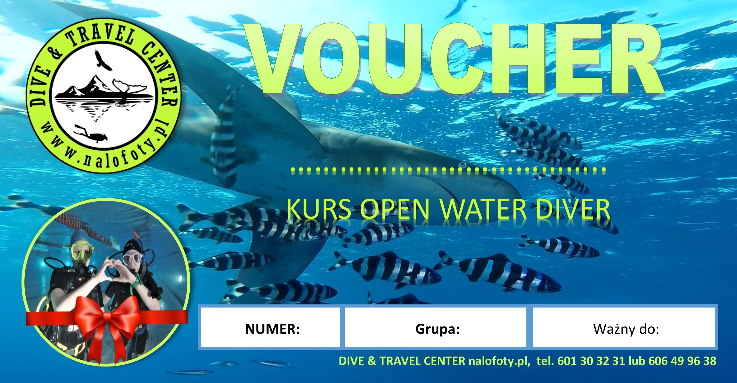 Podaruj freediving, freediving voucher